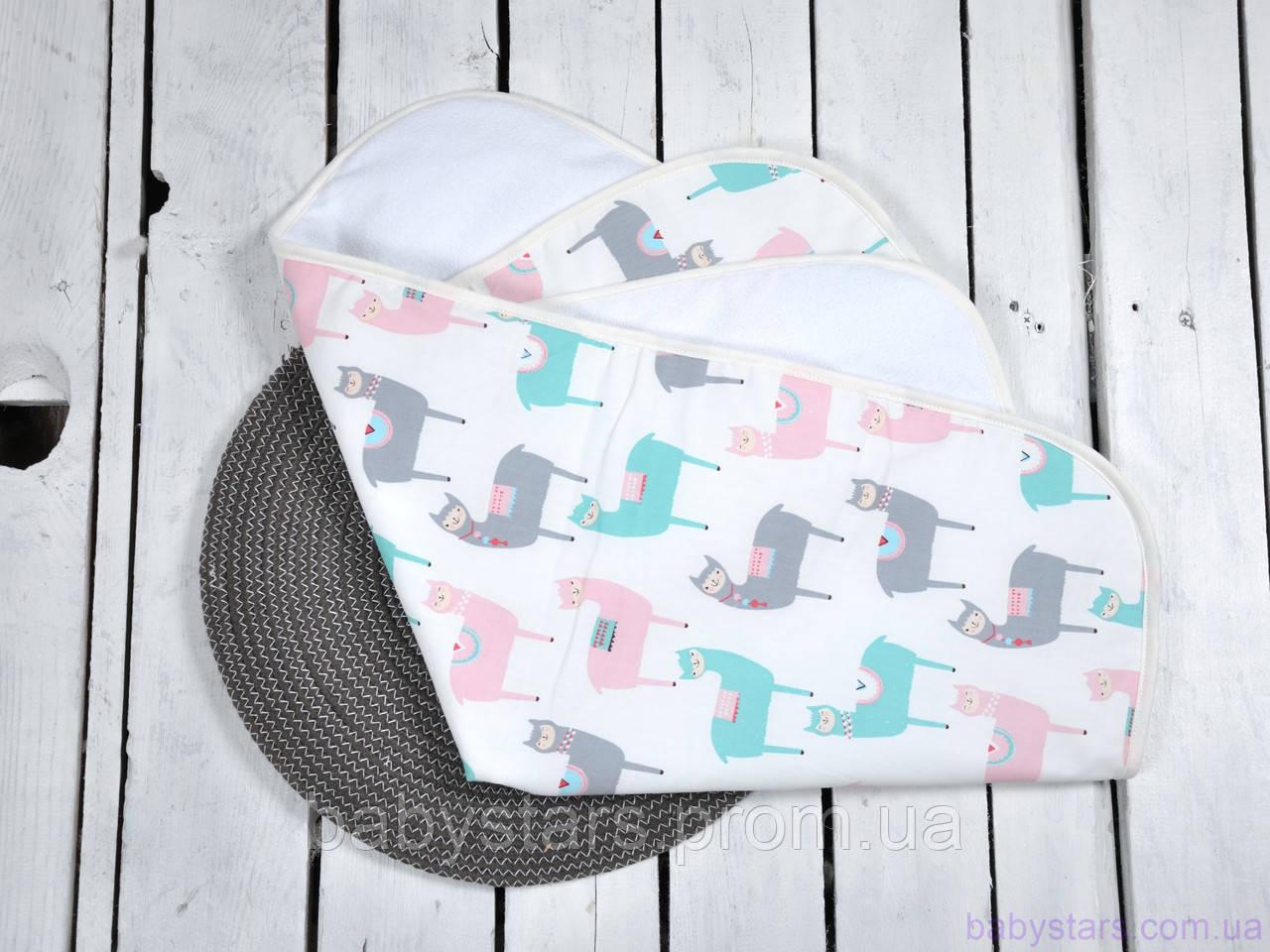 Пеленка непромокаемая для детей (размер 60*80 см), Альпака
