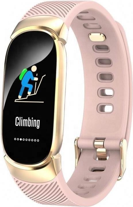 Умный фитнес браслет Lemfo QW16 с измерением давления (Розовый)