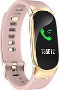 Умный фитнес браслет Lemfo QW16 с измерением давления (Розовый), фото 2