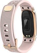 Умный фитнес браслет Lemfo QW16 с измерением давления (Розовый), фото 4