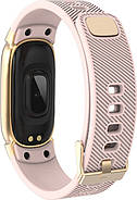 Умный фитнес браслет Lemfo QW16 с измерением давления (Розовый), фото 5