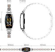 Умный фитнес браслет Finow H8 с тонометром (Серебристый), фото 3