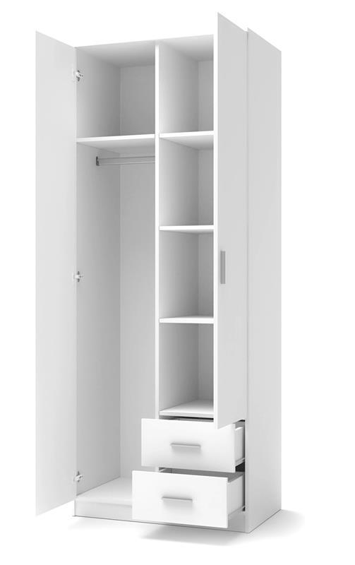 Шкаф LIMA S-2  белый (80х52х205 (Halmar)