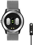 Умные часы Lemfo N58 Metal с измерением давления и ЭКГ (Серебристый), фото 3
