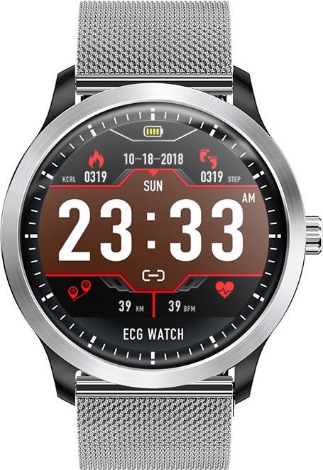 Умные часы Blaze Watch N58 с тонометром и ЭКГ (Серебристый)