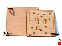 Заготовка Деревянная ДВЕРКА БОЛЬШАЯ 13см для бизиборда дверца открывается Дерев'яні двері для бізіборда, фото 1
