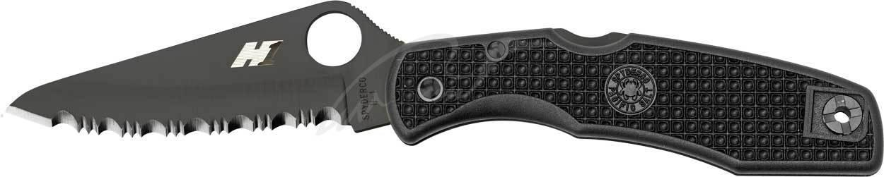 Нож Spyderco Pacific Salt black blade spyderedge