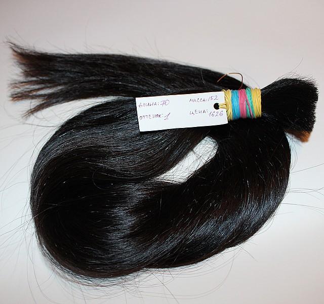 Срез натуральных азиатских волос, фото 1