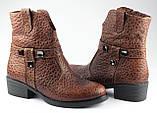 Ботинки казаки женские демисезонные из натуральной кожи на низком каблуке от производителя модель ФС2031-2, фото 2