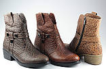 Ботинки казаки женские демисезонные из натуральной кожи на низком каблуке от производителя модель ФС2031-2, фото 3