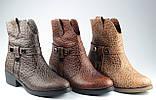 Ботинки казаки женские демисезонные из натуральной кожи на низком каблуке от производителя модель ФС2031-2, фото 4