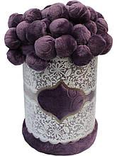 Плед Colorful Home з помпонами фіолетовий 200х220см.