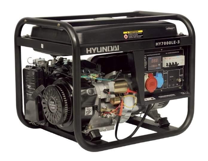 Трехфазный бензиновый генератор Hyundai HY 7000LE-3    БЕСПЛАТНАЯ ДОСТАВКА!