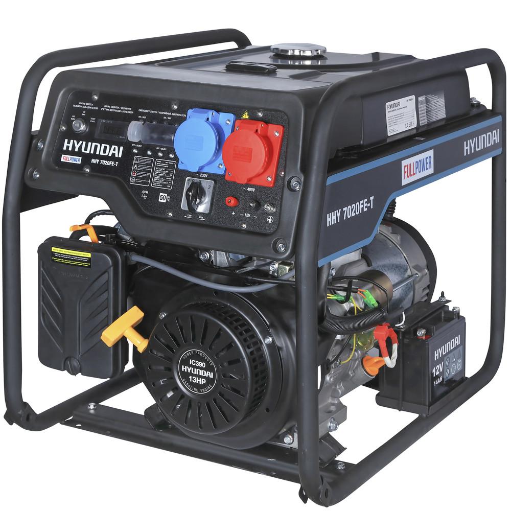 Бензиновый генератор Hyundai HHY 7020FE-T (универсальный 220/380В)  | БЕСПЛАТНАЯ ДОСТАВКА!