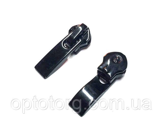 бегунок спираль нейлон пластик фиксаторный Black, черный черный black