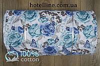 Ткань ранфорс - Dora бирюзовый 13888. Турция