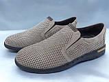 Летние комфортные песочные нубуковые туфли Detta, фото 2