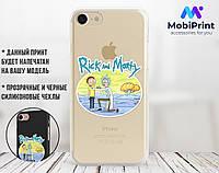 Силиконовый чехол для Samsung A205 Galaxy A20 Рик и Морти (Rick and Morty) (13018-3418)