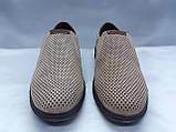 Летние комфортные песочные нубуковые туфли Detta, фото 4