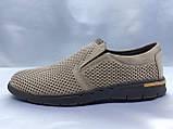 Летние комфортные песочные нубуковые туфли Detta, фото 5