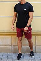 Бордовые шорты НБ NB для парня (РЕПЛИКА), фото 1