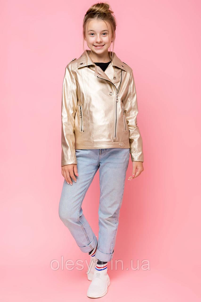 Модная куртка косуха для девочки ТМ Барбаррис vkd-21 Размеры 134 - 164
