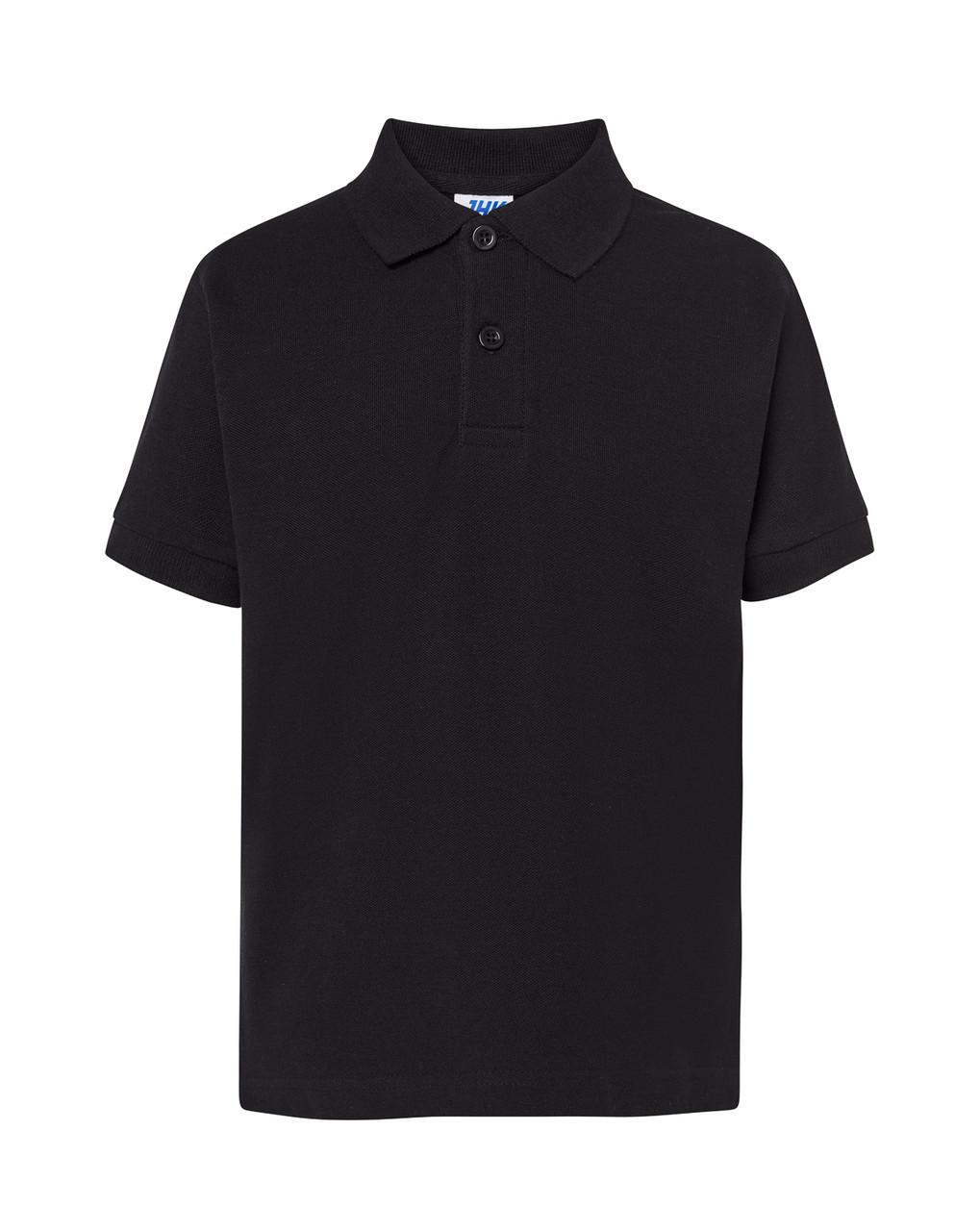 Детская футболка-поло JHK KID POLO цвет черный (BK)