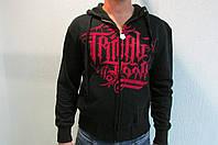 Мужская олимпийка TRIBAL №106 черная с капюшоном код 158 в