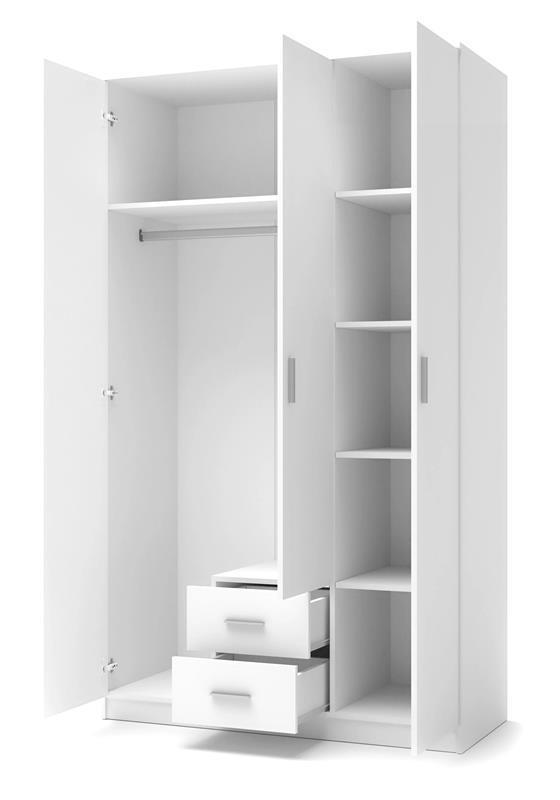 Шафа LIMA S-3 білий (120х52х205) (Halmar)