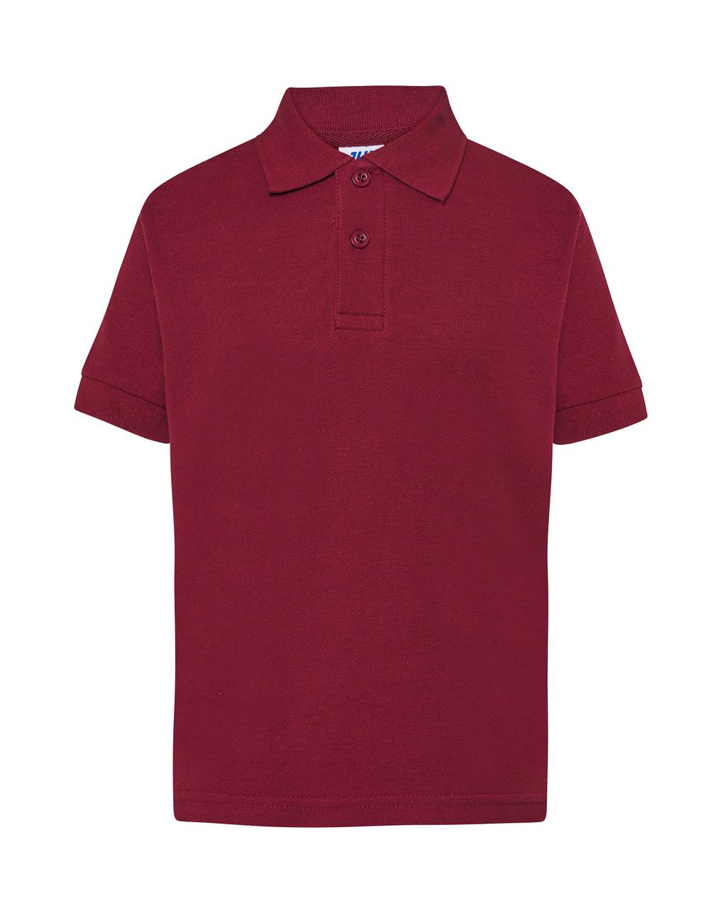 Детская футболка-поло JHK KID POLO цвет бордовый (BU)