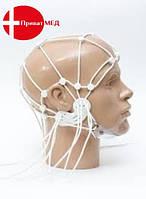 Шлем для ЭЭГ электродов подбородок на липучке (силикон) взрослый