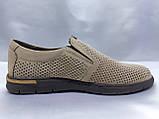 Летние комфортные песочные нубуковые туфли Detta, фото 3