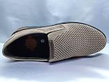 Летние комфортные песочные нубуковые туфли Detta, фото 8