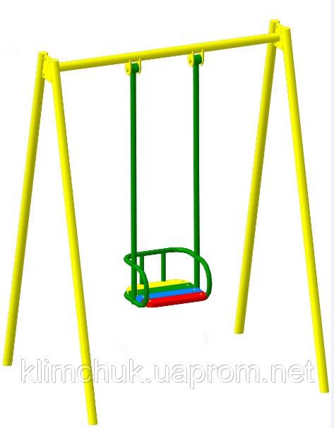 Гойдалка одинарна на жорсткій підвістці для дитячих ігрових майданчиків KidSport