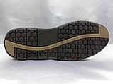 Летние комфортные песочные нубуковые туфли Detta, фото 9