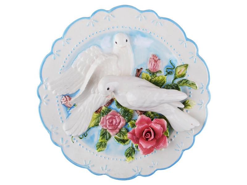 Тарелка декоративная Lefard Голуби 20 см 59-313