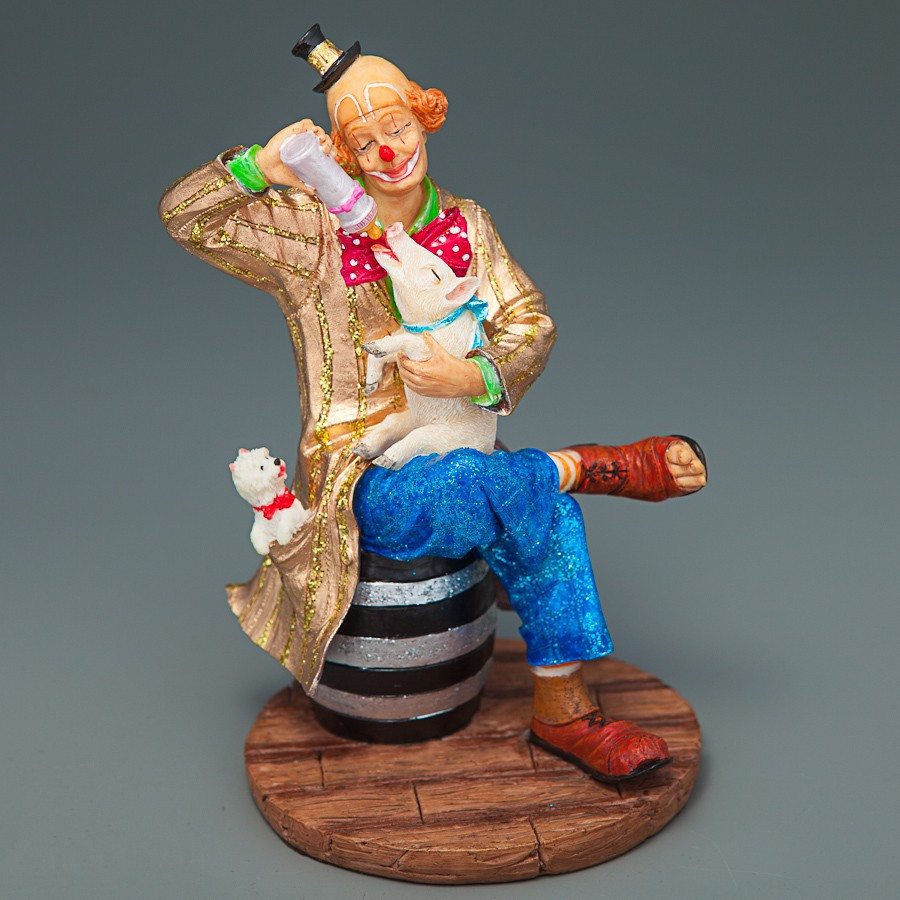 Статуэтка Lefard Клоун со свинкой 14 см 72296 AA