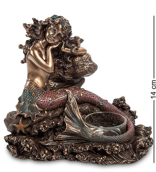 Статуэтка подсвечник Veronese Русалка 14 см 1902987
