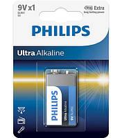 Батарейка PHILIPS 6LR61 КРОНА ULTRA ALKALINE 9V