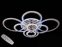 Потолочная люстра с диммером и LED подсветкой, цвет хром, 190W