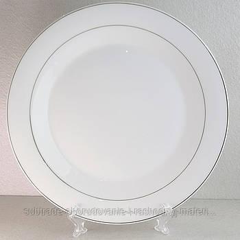 Тарелка для сублимации с золотой окантовкой 25 см