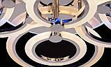 Світлодіодна люстра з діммером і LED підсвічуванням, колір золото 190W, фото 5