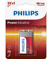 Батарейка PHILIPS 6LR61 КРОНА POWER ALKALINE 9V
