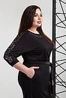 Платье нарядное из трикотажа с люрексом больших размеров
