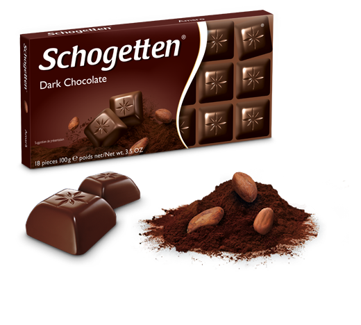 Немецкий черный шоколад Schogetten Dark Chocolate 100 грамм