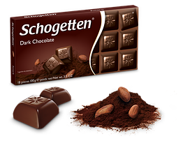 Німецький чорний шоколад Schogetten Dark Chocolate 100 грамів