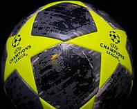 Мяч футбольный Лиги Чемпионов серо-салатовый реплика
