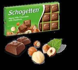 Шогеттен шоколад Alpine with Milk Hazelnuts молочний зі шматочками лісового горіха 100 грам