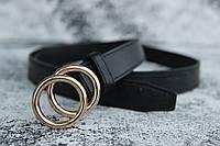 Женский ремень с кольцом на пряжки