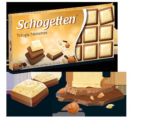 SchogettenTrilogia микс черного, белого и молочного шоколада 100 грамм